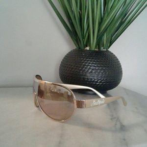Women's Gold Southpole Sunglasses